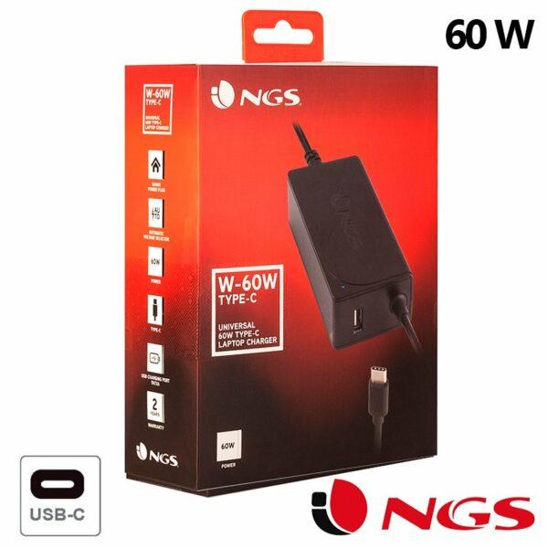Cargador Red Universal Orden. Portátiles 60w Automático NGS (Tipo C)