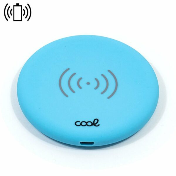 Dock Base Cargador Smartphones Inalámbrico Qi COOL Universal Azul