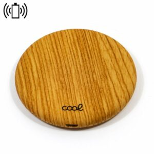 Dock Base Cargador Smartphones Inalámbrico Qi COOL Universal Textura Madera