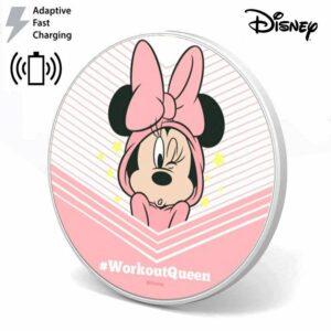 Dock Base Cargador Smartphones Qi Inalámbrico Universal Licencia Disney Minnie (Carga Rápida)