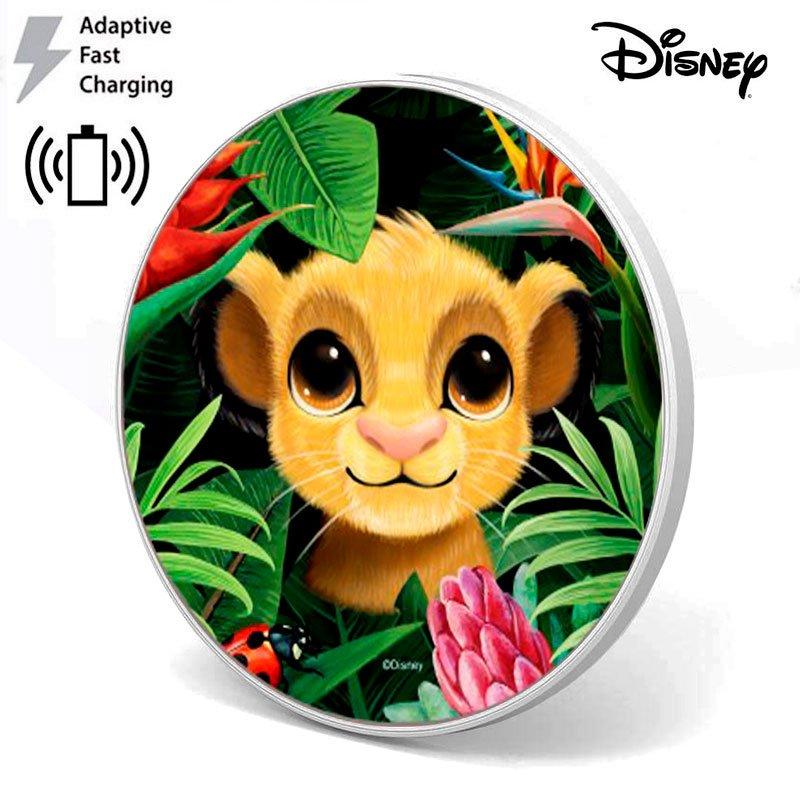 Dock Base Cargador Smartphones Qi Inalámbrico Universal Licencia Disney Simba (Carga Rápida)