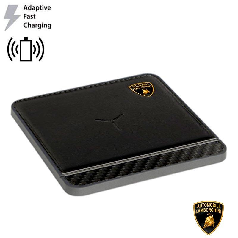 Dock Base Cargador Smartphones Qi Inalámbrico Universal Licencia Lamborghini (Carga Rápida)