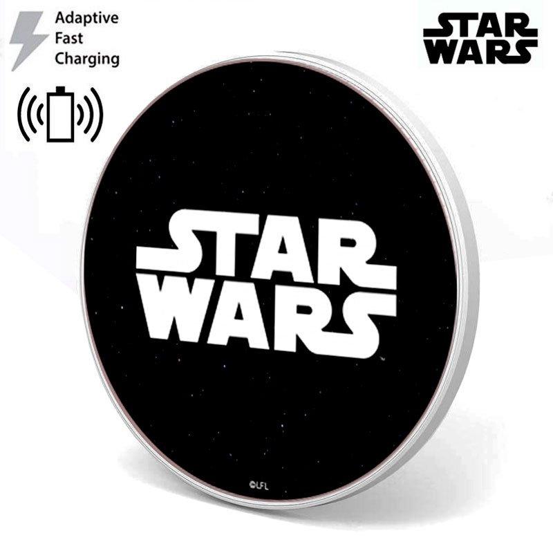 Dock Base Cargador Smartphones Qi Inalámbrico Universal Licencia Star Wars Logo (Carga Rápida)