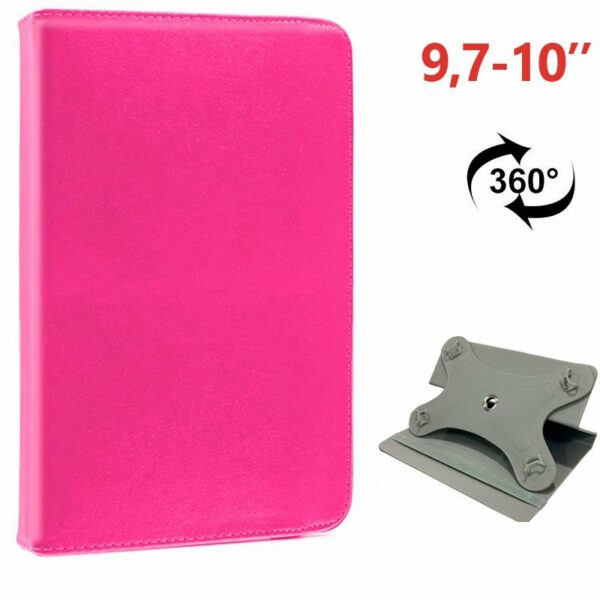 Funda COOL Ebook / Tablet 9.7 - 10 pulg Liso Rosa Giratoria (Panorámica)