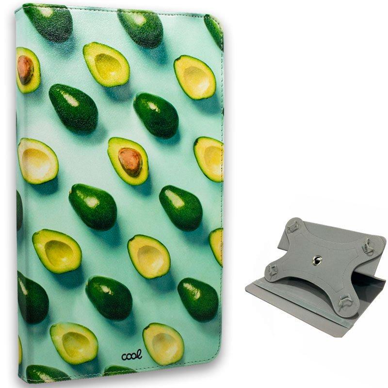 Funda COOL Ebook / Tablet 9.7 - 10 pulg Polipiel Aguacates Giratoria (Panorámica)