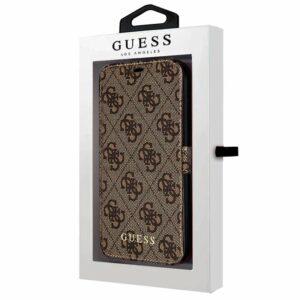Funda COOL Flip Cover para iPhone 12 mini Licencia Guess Tela Marrón