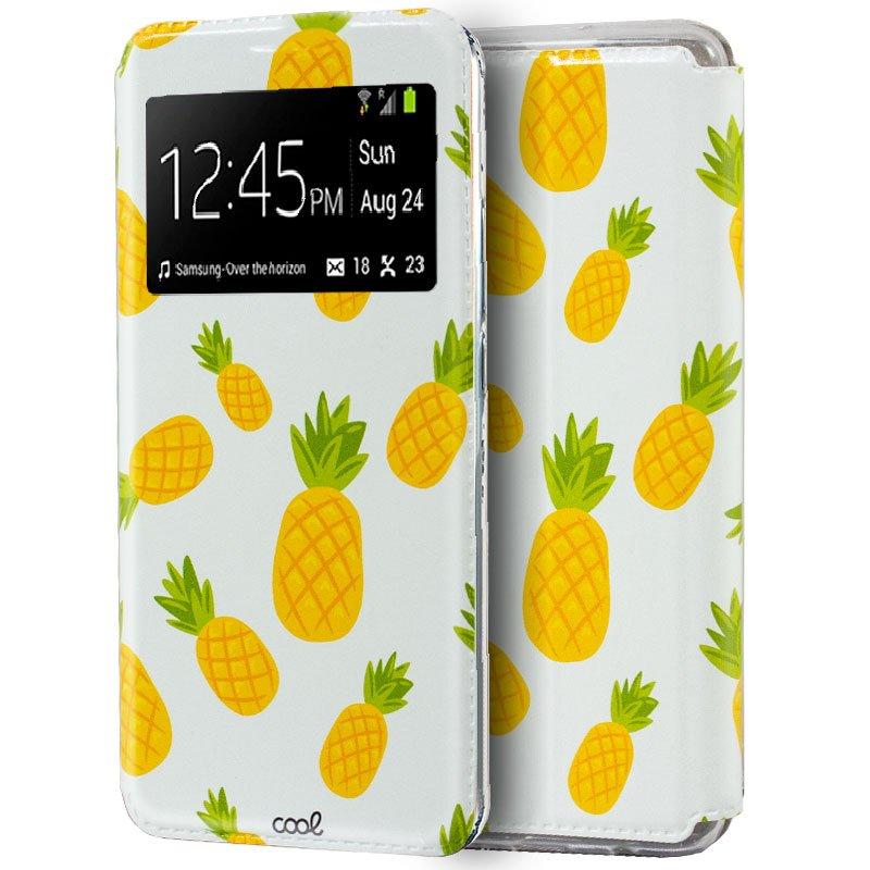 Funda COOL Flip Cover para Samsung A105 Galaxy A10 Dibujos Piñas