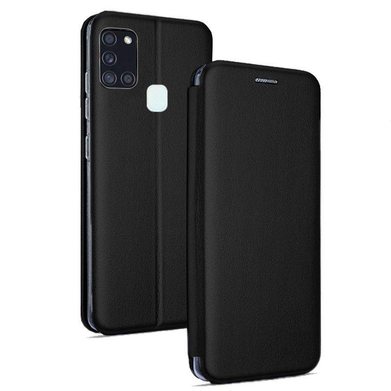 Funda COOL Flip Cover para Samsung A217 Galaxy A21s Elegance Negro