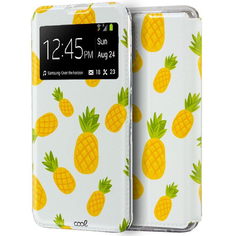 Funda COOL Flip Cover para Samsung A715 Galaxy A71 Dibujos Piñas