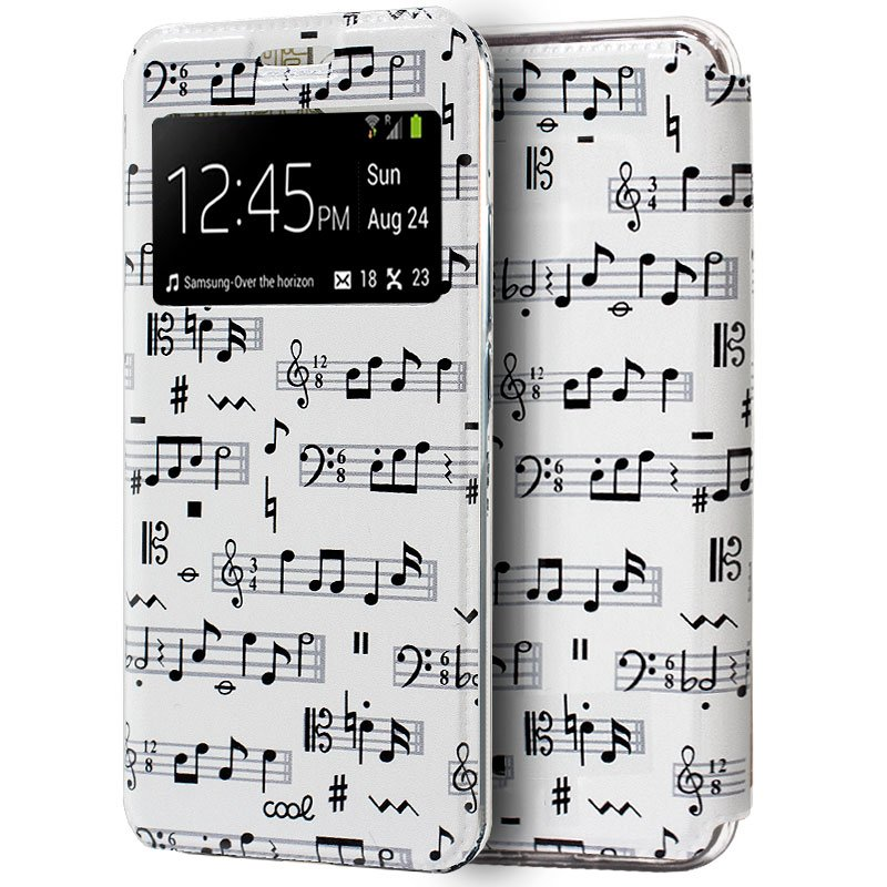 Funda COOL Flip Cover para Xiaomi Mi 9 SE Dibujos Música