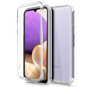 Funda COOL Silicona 3D para Samsung A326 Galaxy A32 5G (Transparente Frontal + Trasera)