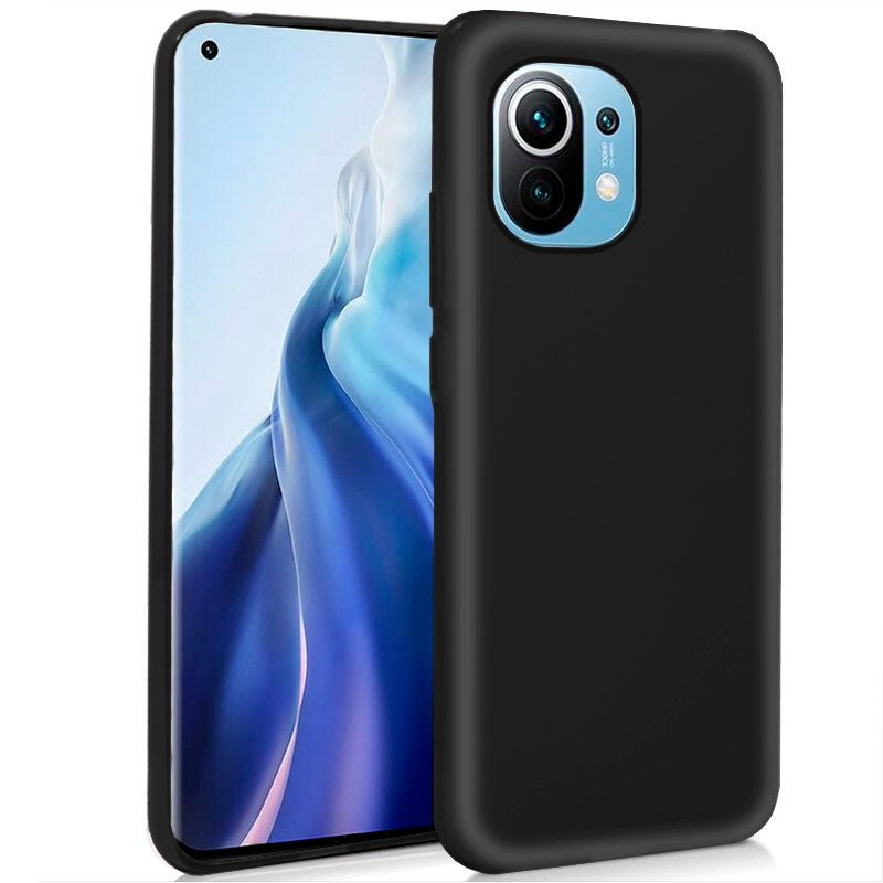 Funda COOL Silicona para Xiaomi Mi 11 (Negro)