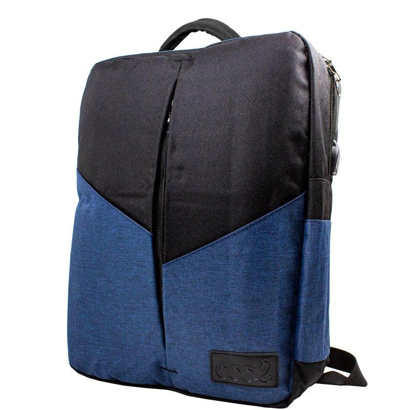Mochila Ordenador Portátil 15-16 Pulg COOL Portland Negro-Azul