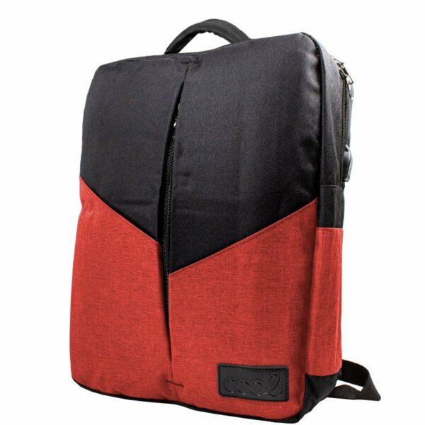 Mochila Ordenador Portátil 15-16 Pulg COOL Portland Negro-Rojo