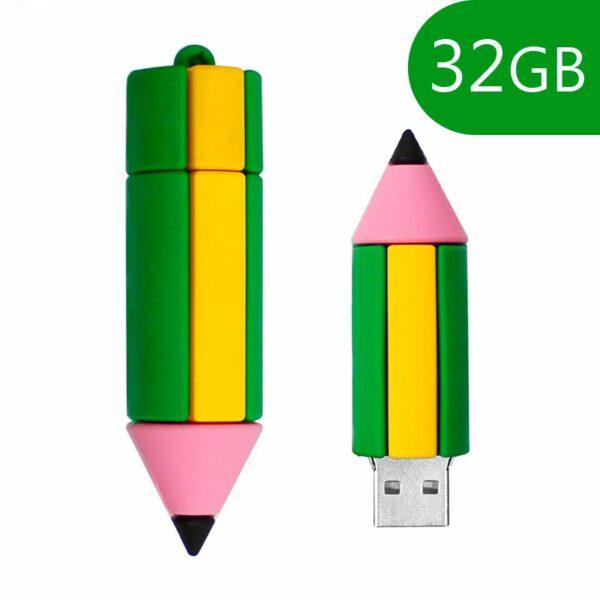Pen Drive USB x32 GB Silicona Lápiz