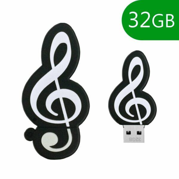 Pen Drive USB x32 GB Silicona Música